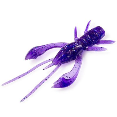 Real Craw 1,5 Dark Violet / Peacock and Silver