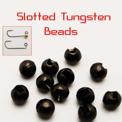 Slotted Tungsten beads – Black – 3,5mm