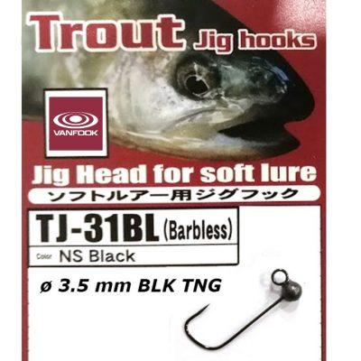 Jig Vanfook Tungsten Black 3,5mm size 4