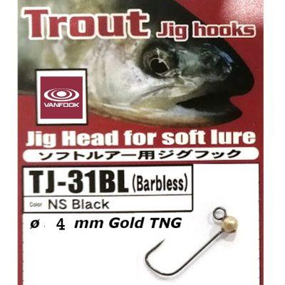 Jig Vanfook Tungsten Gold 4mm size 4